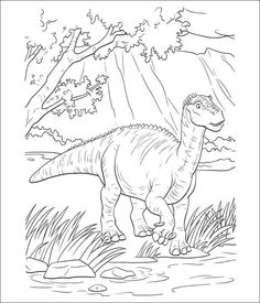 adorable Cartoon Dinosaur Coloring Pages. Explore more images to color assortment for kids and toddler in our site. Easy Coloring Pages, Disney Coloring Pages, Animal Coloring Pages, Coloring Pages To Print, Printable Coloring Pages, Coloring Books, Dinosaur Coloring Sheets, Toddler Coloring Book, Coloring Pages For Kids