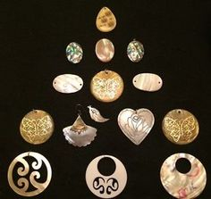 15 Lovely Assorted Vintage Shell PENDANTS & Prepared Jewelry Making Shells Lot
