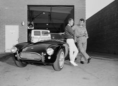 Steve McQueen, Carroll Shelby, and the Shelby legend car