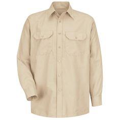 a4a3cc8239d Red Kap Men s Size 32 33 (Tall) Light Tan Solid Dress Uniform Shirt-SP50LT  L 323
