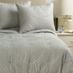 ivy hill home bedding | Ivy Hill Home Allure Quilt Set - King in Grey