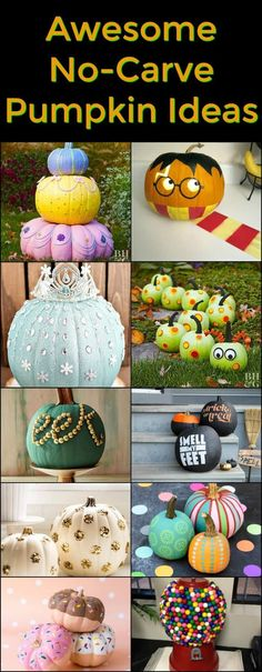Awesome No Carve Pumpkin Ideas - all the fun pumpkin ideas without having to actually carve it!