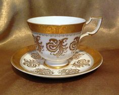 Vintage Tuscan Cup and Saucer with Beautiful by Teacups4you