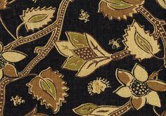 Richloom Fabric Black Brown Tan Green Cotton Drapery Upholstery | eBay