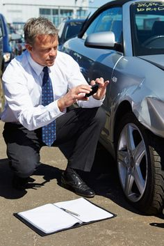 Photo about Male Loss Adjuster Inspecting Car Involved In Accident. Image of male, accident, mobile - 31863550 Assurance Auto, Photo Editing, Logo Design, Stock Photos, Car, Simulation, Male Man, Avatar, Vehicle