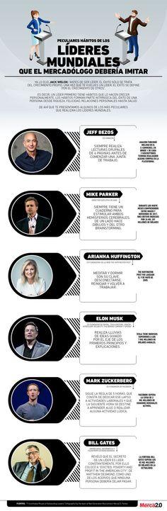 Hábitos de líderes mundiales de los que un marketiniano podría aprender #infografia