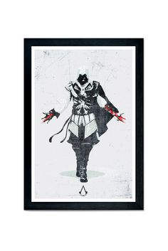 Assassins Creed Video Game Poster Print 12x18 by SPACEBARdesigns, $17.00