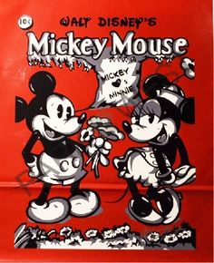 "‪#‎OnthisDay‬ in 1930, the ""‪#‎MickeyMouse‬"" comic appeared for the first time! ‪#‎ArtoftheDay‬ ""Mickey Loves Minnie,"" Allison Lefcort"