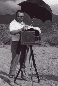 Sergio Leone on set