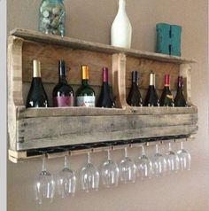 Pallet ❤️ Adorable wine wrack