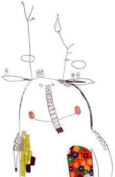 Walter by Christine Roussey...have outline of a monster, groups fill with pattern