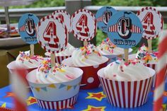 Your Celebrations | Pottery Barn Kids Circus party cupcakes