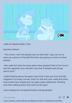This corresponds with his true name of Laramie, and how Lars' mom got so guilty accidentally saying it out loud