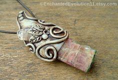Topaz Pink Tourmaline Necklace Gemstone by EnchantedEvolution11