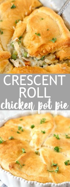 Yummy chicken pot pie with a crescent roll crust! This is SO good and is awesome with leftover turkey too! The post Chicken Pot Pie with Crescent Roll Crust appeared first on Tasty Recipes. One Dish Meals Tasty Recipes Croissant, Leftover Turkey Recipes, Leftovers Recipes, Chicken Leftovers, Dinner Recipes, Recipes With Leftover Chicken, Dinner Ideas, Chicken Pot Pie Casserole, Casserole Recipes