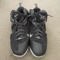 size 40 4a24a 41d2a Nike Shoes   Pair Of Grey Nike High Top Lebron James Shoes   Color  Gray    Size  13