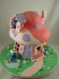 smurfy house cake | Flickr - Photo Sharing!