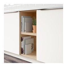 TUTEMO Open cabinet, ash - IKEA