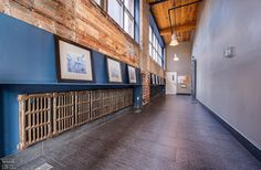 Feather Factory Lofts-2154 Dundas St W #306 | Authentic post, brick & beam 1 bedroom heritage loft with high 10.5 ft original factory wood ceilings, exposed brick walls, bright East exposure from large 6.5 ft high wall to wall warehouse windows & laminate floors. | More info here: torontolofts.ca/feather-factory-lofts-lofts-for-sale/2154-dundas-st-w-306 Exposed Brick Walls, Exposed Concrete, Toronto Lofts, Lofts For Rent, Rental Listings, High Walls, Post And Beam, Wood Ceilings, Beams