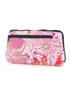 "Belvah Quilted Paisley Cosmetic Bag with Zippered Pocket (FS/NV) Belvah. $9.95. Fully Lined Interior, One Open Pocket Inside. Length/Height/Width : 7.0 "" / 4.0 "" / 1.5	 """