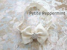 Ivory Baby headband baby girl headband newborn by PetitePeppermint