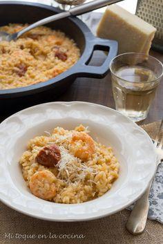 Mi toque en la cocina: Risotto con tomates secos y langostinos y nuestra escapada a Roma.