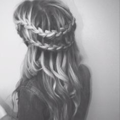 double waterfall french braid.