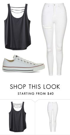 """Untitled #367"" by cuteskyiscute on Polyvore featuring Kavu, Topshop and Converse"