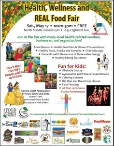 The Health, Wellness & Real Food Fair is coming up on May 17 at North Middle School in Grants Pass, OR! See us there!