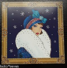 11 Clintons Art Deco Lady Embellished Christmas Cards 12