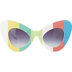4798fe1db516 JEREMY SCOTT Colour bar cat-eye sunglasses