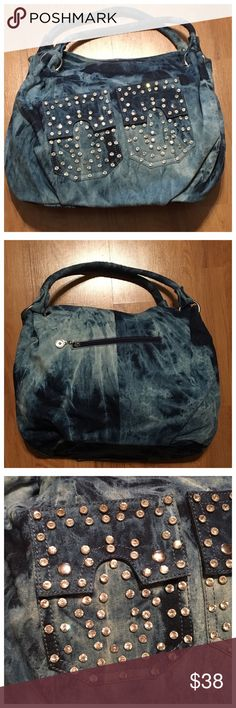 Denim and Bling Handbag 👜 Beautiful denim and bling shoulder bag. You will get several compliments while styling this beautiful purse 👛. Bags Shoulder Bags