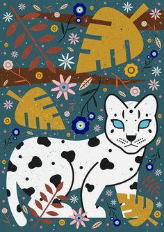 Carly Watts Art & Illustration: Snow Leopard Cub