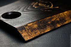 Купить Разделочная доска Черный Ясень - черный, разделочная доска, доска в подарок, сервировка