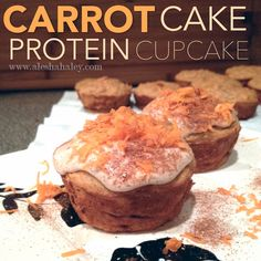 Carrot Cake Protein Cupcakes {Clean Eating} // Made with Love #eatclean #jamieeason