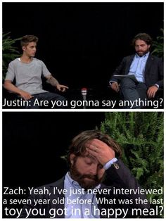 Zach galifianakis and justin bieber