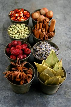 Sensorial Circle Time ~ spices in raw form for children to smell.