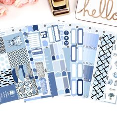 A personal favourite from my Etsy shop https://www.etsy.com/uk/listing/498510056/monday-blues-vertical-weekly-kit-planner