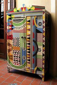AphroChic: Argentine Artist Lucas Risé's Colorful Cabinets