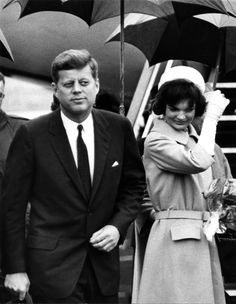 The Kennedy's arrive in Vienna, Austria. June 1961. This was JFK's trip to meet Nikita Khrushchev.