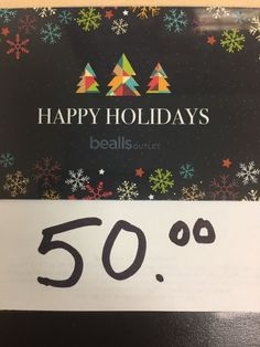 $50 Bealls gift card. Electronic delivery available upon request. #store #credit #merchandise #shipping #free #gift #card #bealls