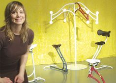 unique furniture designs made with #recycled #bicycle parts by Swedish designer Frida Ottemo Kallstrom