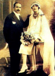 Ekrem Cemîl Paşa and his Wife Jawidan Khanoum.