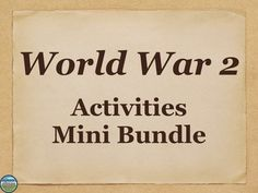 This mini bundle on World War 2 (WW2, WWII) has activities covering the atomic bomb, the Holocaust, Pearl Harbor, the Munich Conference and appeasement, the Totalitarian Leaders, Truman, the Rape of Nanking, WW2 Conferences, Truman, unit reviews, and more! This will work for US History and World History.