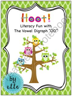 """Worksheets and lesson plans to help students understand the vowel """"oo"""" sound. Use of owls will get the students engaged and can find it fun."""