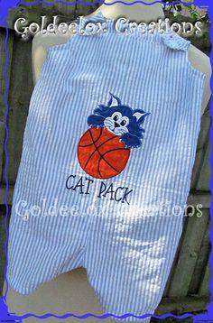 Boys Blue & White Seersucker ShortallsJon by GoldeeloxCreations, $20.00