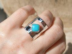 WINDOW  Amazonite sterling silver ring by SILVERSTONEbyRenata