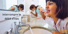 Astuce #ECOYO du jour: Interrompre le débit d'eau  Fermez le robinet de douche quand vous vous savonnez et celui du lavabo quand vous brossez les dents ou vous rasez : à défaut, l'eau coule inutilement. Un robinet écoule 12 litres en 1 minute… mais vous ne consommerez que 25 cl en utilisant un verre… soit 48 fois moins! #SaveWater #AstuceDuJour #AgirPourLeClimat #BeSustnbl