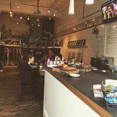 have u ever seen a cafe inside a bike shop? ya have now