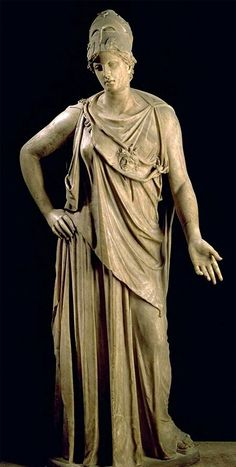 "Marble statue of Athena, known as ""Athena Mattei"" - height 2,3 m, Roman copy 1st c. BC after Greek bronze model of the 4th century BC"